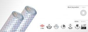 PVC Şeffaf Örgülü Süper Hortum